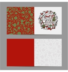 Christmas card sketch for your design vector image vector image