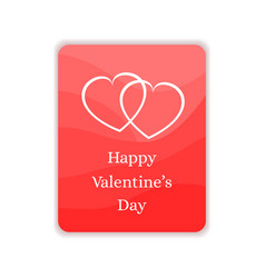 happy valentines day card gift greeting banner vector image