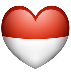 icon design for indonesia flag vector image vector image