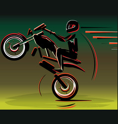 motocross drivers silhouette motorbike motorcycle vector image