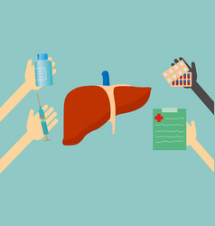treatment of liver vector image vector image
