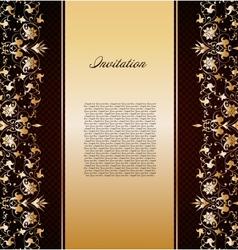 Vintage gold floral background vector image vector image