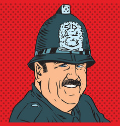 avatar portrait of a british police officer vector image