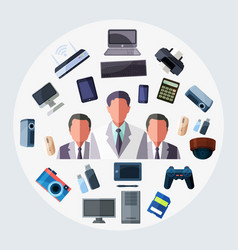 business technology tool vector image vector image