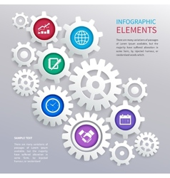 Gears infographics template vector image vector image