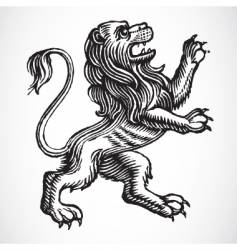 gothic lion vector image