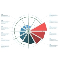 Infographics Standard pie chart graph diagram vector image