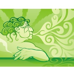 pot smoker vector image