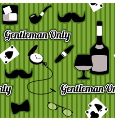 Retro gentleman accessories seamless pattern vector image vector image
