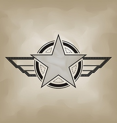star symbol airforce military concept vector image vector image