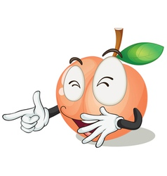 a orange apple vector image