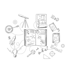 Astronomy and physics science icons vector image