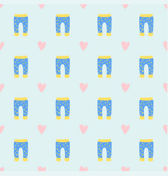 baby clothes seamless pattern design vector image