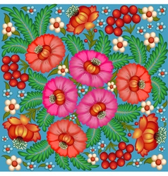 Background painted with flowers vector