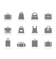 Bag an icon vector image