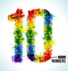Color paint splashes Gradient Number 10 vector image vector image