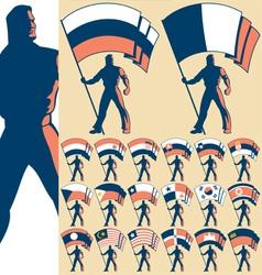 flag bearer 3 vector image vector image