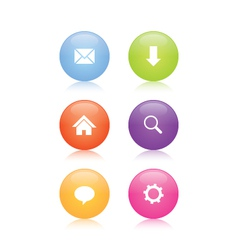 Glossy Web Icons vector image vector image