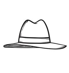 Hat icon hand drawn vector image vector image