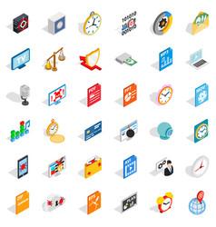 movie icons set isometric style vector image