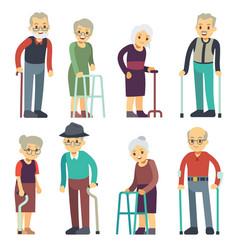 old people cartoon characters set senior vector image vector image