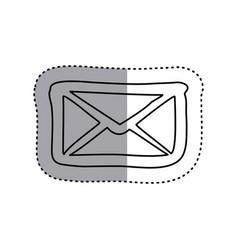 sticker contour envelope closed icon flat vector image vector image