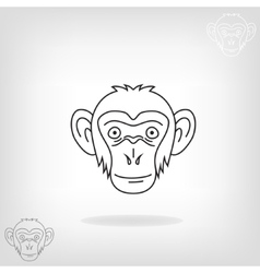 Stylized head of a monkey vector image vector image