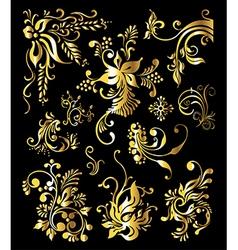 Vintage Golden Decoration Elements vector image vector image