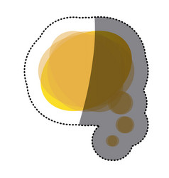 yellow round chat bubble icon vector image vector image