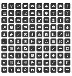 100 dog icons set black vector