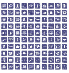 100 sales icons set grunge sapphire vector