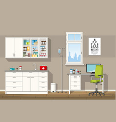 A doctor office vector