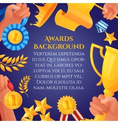 Award and prizes poster vector image