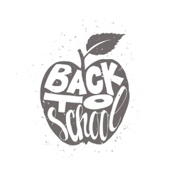 Back to school poster with apple vector image