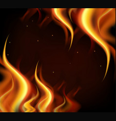 background design with hot flames on black vector image
