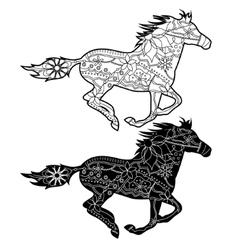 black horses vector image vector image