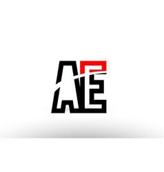 Black white alphabet letter ae a e logo icon vector