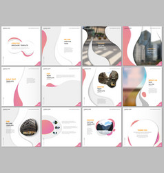 brochure templates with trendy colorful circles vector image