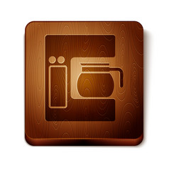 brown coffee machine with glass pot icon isolated vector image