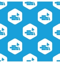 Building wall hexagon pattern vector image