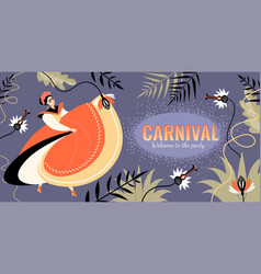 carnival banner in latin american style vector image