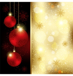 Christmas Crystal Ball Greeting Card vector image