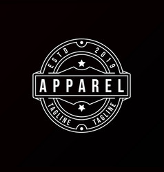classic vintage retro label badge logo design vector image