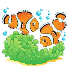 Clown fish theme image 1 vector