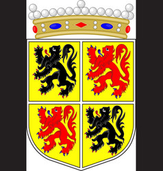 Coat of arms of hainaut in belgium vector