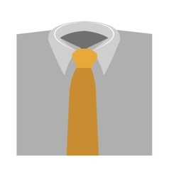 Color silhouette with shirt and tie close up vector