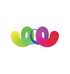 colorful rainbow spiral logo icon symbol vector image