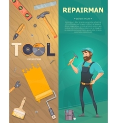 Colorful Technician Vertical Banners vector