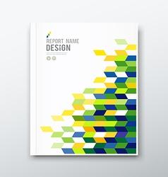 Cover annual report flag brazil geometric design vector
