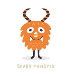 cute halloween monster character vector image